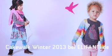 The motto: Girly Spirit.Cakewalk kids for winter fashion 2013.