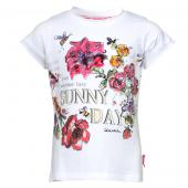 Cakewalk T-Shirt mit Flower in White Crisp