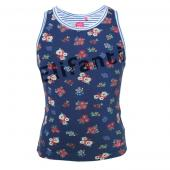Cakewalk Top mit Flower Blue Indigo