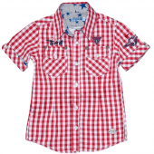 Carbone CRB Karo Hemd Red Check Shirt Rot