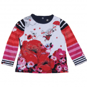 Catimini LA-Shirt mit Umbrella Flower Rot