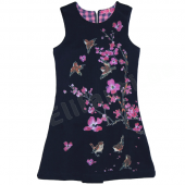 Cakewalk Kleid Simone Spatzprint Blue Navy