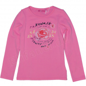 Cakewalk la-shirt with flower print pink