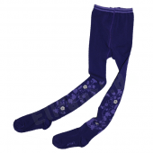 Cakewalk warme Strumpfhose Flower Purple