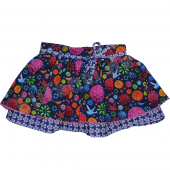Cakewalk Rock Thea Skirt mit Flower Purple