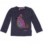 Cakewalk LA-Shirt Kandy mit Vogel Charcoal