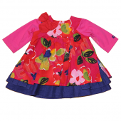 Catimini Baby Kleid Robe Flower Rose Rot