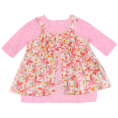 Catimini Baby Kleid Robe Flower Rose Rosa