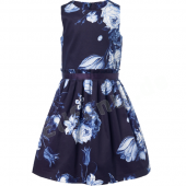 Jottum Kleid Sill Dress Flower Blue Dark Navy