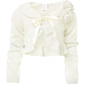 Jottum Cardigan Kate Flower Off White Weiß