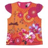 Catimini T-Shirt Giraffe Mini, Orange Rosa