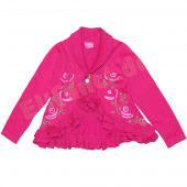 Pampolina Cardigan mit Volants Flower Pink