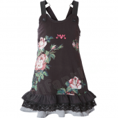 Muy Malo dress roses print shale brown