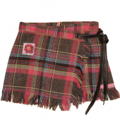 Muy Malo woolly plaid skirt coloured