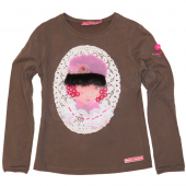 Muy Malo LS-shirt girl portrait brown