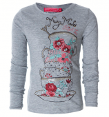 Muy Malo LS-shirt with tee cups grey
