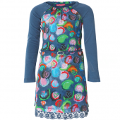 Muy Malo Kleid Dress Painted Print Orion Blau