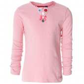 Muy Malo LS-shirt knitted heart in peony rose