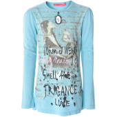 Muy Malo LS-shirt with perfume blue