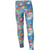 Muy Malo Leggings Painted Print Blau