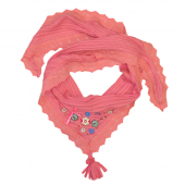 Muy Malo girls scarf buttons in rose