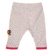 Catimini Baby Leggings Pois Flower Ecru Weiß