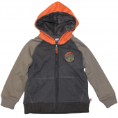 Paglie Jungen Sweatjacke Olive Orange