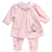 Pampolina Overall Strampler cradle Pink Rosa