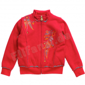 Pampolina bequeme Sweatjacke crimson in Rot