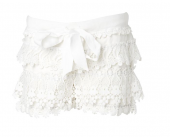 Muy Malo Short with lace in Snow white