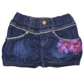 Catimini Puffhose Short Denim mini blau