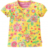Oilily bequemer T-Shirt Toos Muster Gelb
