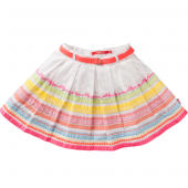 Oilily Rock Scoop skirt mit Ribbons Weiß