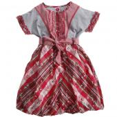 Cakewalk Ballon-Kleid, Strawberry Rot, Grau