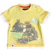 Catimini T-Shirt Ratte Animal Race Gelb
