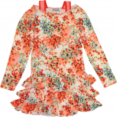 Carbone Kleid Dress Flower Orange Rot