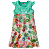 Cakewalk Kleid Sybill Dress Flower Aqua