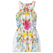 Cakewalk Kleid Solar Dress Flower Weiß