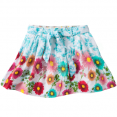 Cakewalk Rock Tula Skirt Flower Aqua Blau