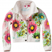Cakewalk Jacke Indoor Bina Flower weiß