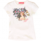 Muy Malo T-Shirt girl in flowers white Weiß