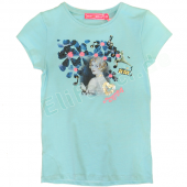 Muy Malo T-Shirt girl in flowers blue Blau