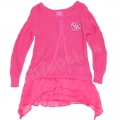 Pampolina ausgefallener Pullover lang Pink