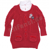 Pampolina bequeme Strickweste jester red Rot