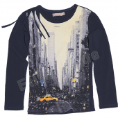 Carbone bequemes LA-Shirt New York Navy