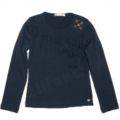 Carbone spaßiges LA-Shirt fringes Navy