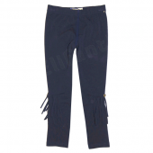 Carbone bequeme Leggings Fransen Denim Blau