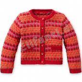 Oilily Cardigan Katje dotted Jacquard Rot
