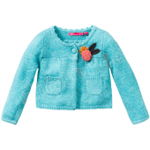Cakewalk Cardigan Pilar Flower Ice Green Blau