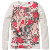 Cakewalk LA Shirt Kim Girl off White Weiß